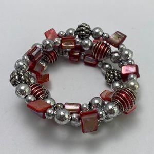 3/$20 beaded wire spiral bracelet